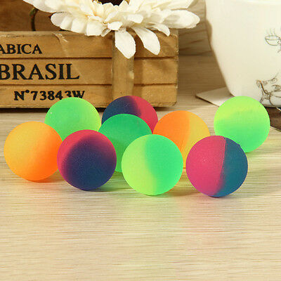 10 Pcs 32mm Noctilucent Ball Luminous Candy Colors High Bounce Balls for Kids