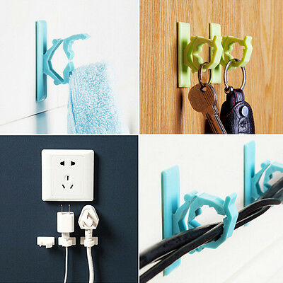 4 x Cable Clips Adhesive Cord Management Organizer Wire Holders Clamp