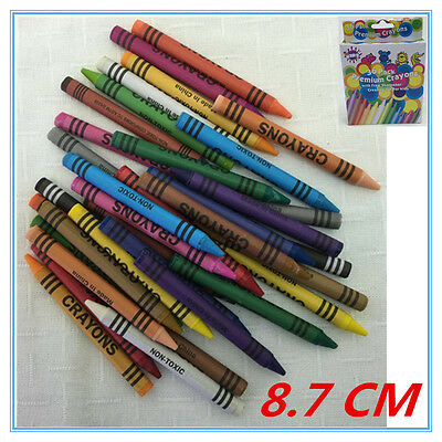 180 X Crayon Crayons With Free Sharpener - Assorted Vibrant Colors Kid Craft Fw
