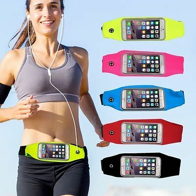 Elastic Waterproof Running Cycling Waist Pouch Case Bag For iPhone 6 6 Plus Top