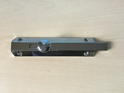 "POLISHED CHROME LARGE 6"" DOOR BOLT Lock HEAVY DUTY"