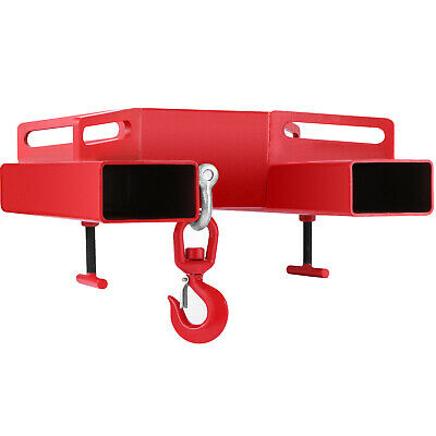 Forklift Lifting Hook 6600Lbs Mobile Crane Steel Hook Hoist Swivel Professional