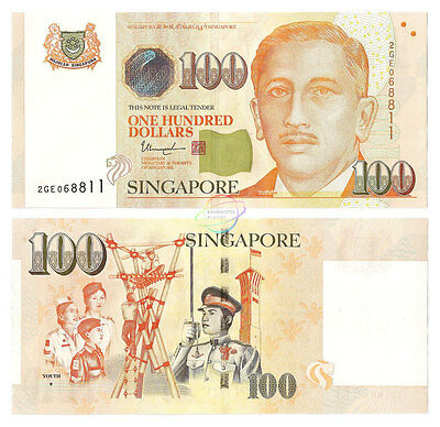 SINGAPORE 100 Dollars, 1 Diamond, 2015 / 2016, P-50 New, UNC