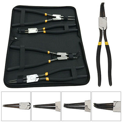 4 Piece 13inch 325mm Circlip Snap Ring Pliers Set Case Mechanics Workshop Tools