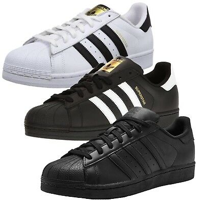 New Adidas Originals Superstar Leather Mens Sports Casual Trainer Shoes 35% Off✅