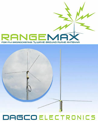 Rangemax 2.0 Gp Fm Transmitter Antenna With 25' N Type Cable