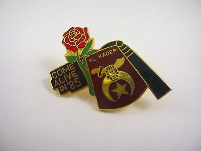 Collectible Vintage Lapel Pin: Al Kader Shriner Come Alive in '85