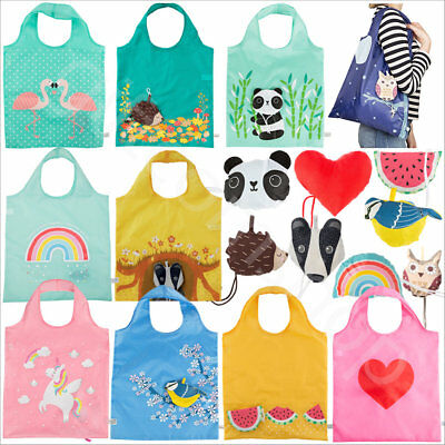 Sass and Belle Reusable Handbag Animal Shopping Tote Grocery Eco Foldable Bags