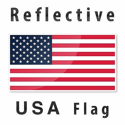 "Reflective 6"" USA American Flag  decal nighttime visible sticker for Cars"