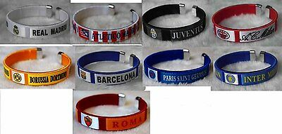 uk 65mm football soccer league int'l club bangle wristband wristlet bracelet