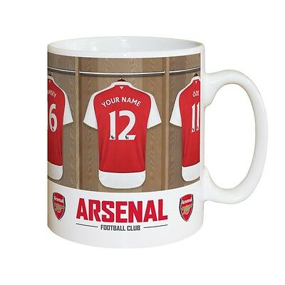 Arsenal Fc Dressing Room Mug With Surname And Number Age Personalised