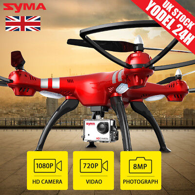 UK SHIP Syma X8HG RC Drone With 8.0MP HD Camera 4CH 6-Axis Pro Quadcopter Gimbal