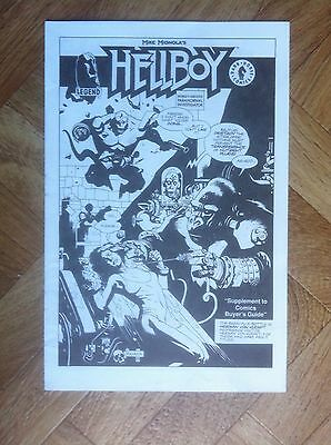 Hellboy Supplement To Comics Buyer's Guide Unpublished Very Fine/near Mint (W2)
