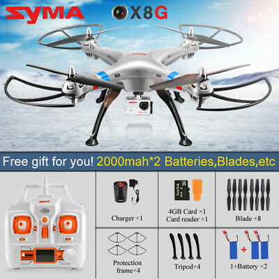Syma X8G RC Drone Quadcopter with 8MP HD Camera Headless Mode + 2 Spare Battery