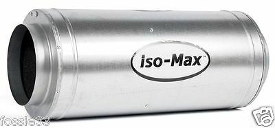 """Isomax Acoustic Silencer Fan - 8"""" (200mm) 900 m3/hr 3 Speed Control"""