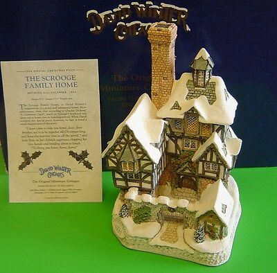 DAVID WINTER cottage - THE SCROOGE FAMILY HOME- 1994 Special Christmas Piece