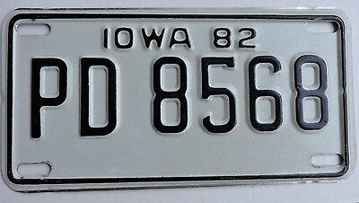 1982 Iowa Motorcycle License Plate