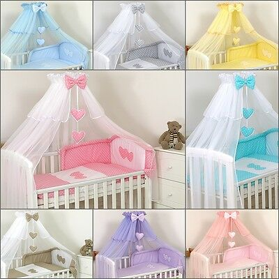 Luxury Cot Cotbed Canopy Drape Big 480cm + Holder to choose/ Boys Girls Uisex