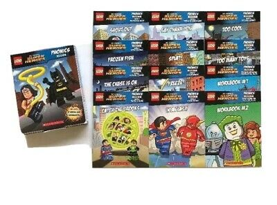 Lego DC Phonics Super Heroes Pack 2 Learning to Read Kids Books Box Set Lot 12