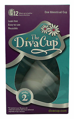 The Diva Cup Diva 12 hour leakfree Reusable Menstrual Cup Model 2 PostChildbirth