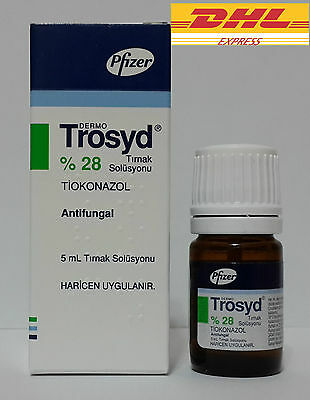TROSYD %28 Tioconazole Anti-Fungal Nail Solution by Pfizer 5ml Trosyl buy