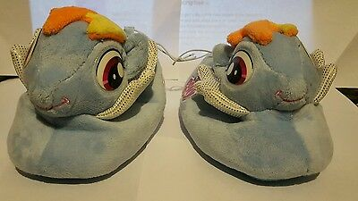 My Little Pony Rainbow Dash Toddler Girls Plush Sock Top Slipper Blue NWT 5/6