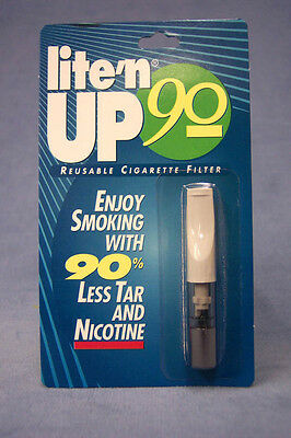 LITE'N UP 90 Reusable Cigarette Filter Cuts Tar & Nicotine Easy Way to Cut Back