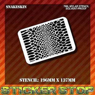SNAKE SKIN MYLAR STENCIL (Airbrush, Craft, Texture, Pattern, Re-usable)