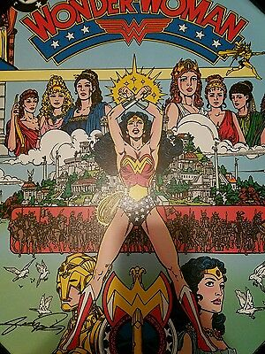 WONDER WOMAN #1 Signed GEORGE PÉREZ Poster Wooded WALL DECOR