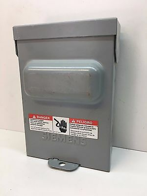 Siemens WF2030 Outdoor Enclosed Pullout Disconnect Switch Fused 30A Rainproof 3R