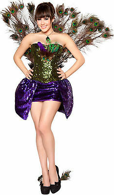 Deluxe Roma 4329 Seductive Peacock Cosplay Costume S,M,L Retail over $220+ NEW