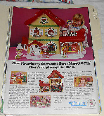 1983 vintage ad - KENNER STRAWBERRY SHORTCAKE BERRY HAPPY HOME - 1-PAGE PRINT AD