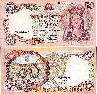 Portugal 1964, 50 Escudos /Holy Queen Isabel , Banknote F