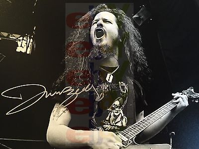 REPRINT RP 8x10 Signed Autographed Photo: Dimebag Darrell on stage