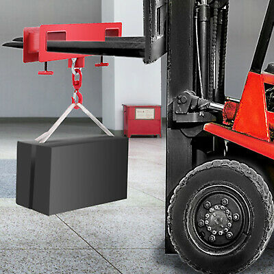 2 Tonne Forklift Lifting Hook Hoist Swivel Fork Extensions Steel