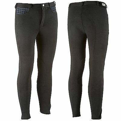 Equi-Theme Kids ?Pro Winter? Breeches Black/Purple