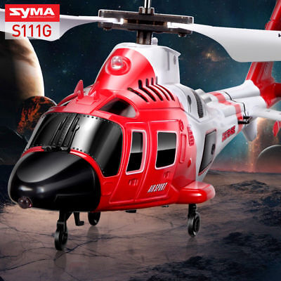 SYMA S111G 3.5Ch Gyro RC Infrared Remote Controll Coastguard RC Helicopter Toys