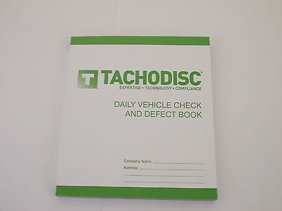 10 Driver's Vehicle Check and Defect Book HGV T50.Tachograph product. Tachodisc