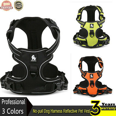 No-pull Dog Harness Reflective Outdoor Adventure Pet Vest Padded Handle 3M UK