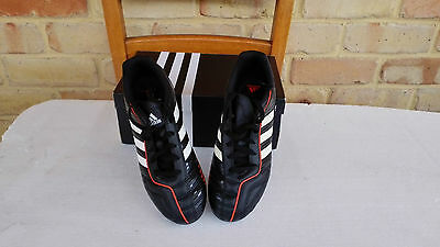 Brand New Adidas Kids Footy/Rugby/Soccer Boots Size 5 Black w White Stripe