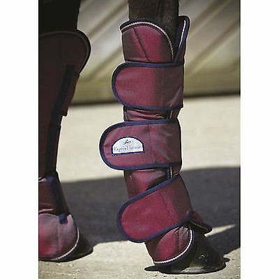 Equi-Theme ?Tyrex 1680 D? Shipping Boots Set of Four Burgundy/Beige