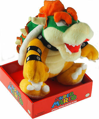 Bowser 24cm Super Mario Soft Plush Toy