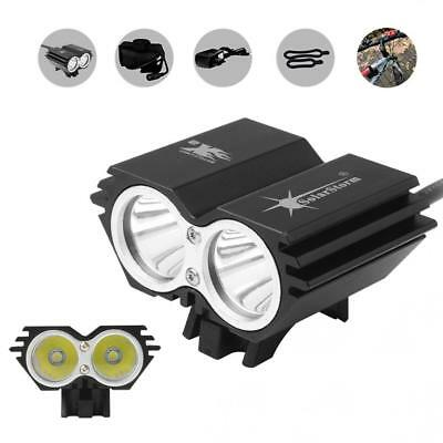 SolarStorm 8000LM 2 x CREE XM-L U2 LED Bicycle Headlight + Battery + Charger Kit