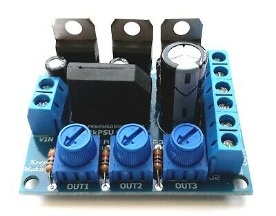 Dual Output Variable Power Supply for Hornby,Bachmann Model Railway LED Lighting