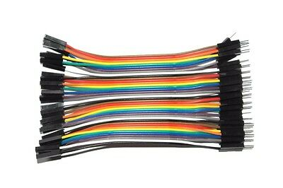Dupont Jumper Cable Wire 10cm 20cm 30cm 40cm 50cm 1meter 10x 20x 40x UK Seller