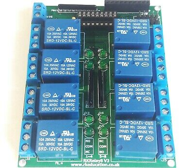 12V DC 8 Channel Relay Module Shield for Arduino Uno Mega PICAXE Raspberry PI
