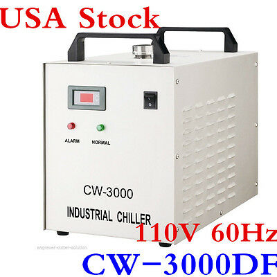 USA! S&A HOT 110V CW-3000DF Water Chiller for 0.8KW / 1.5KW Spindle Cooling