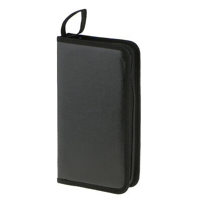 80Disc CD Holder DVD Case Storage Wallet VCD Organizer Bag Pu Leather Sleeve