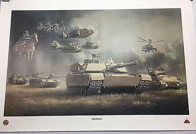 History Of The US Army Armor Division Artist Proof Large Print