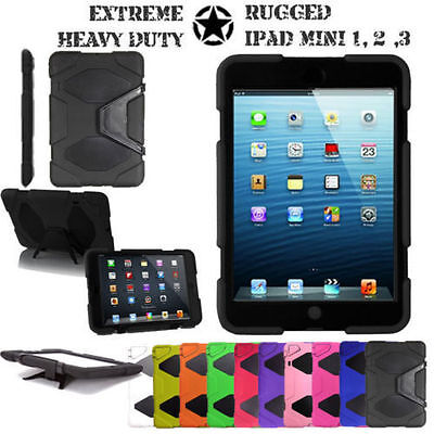 Survivor Military Builders Heavy Shock Proof Case Cover For Apple Ipad Models